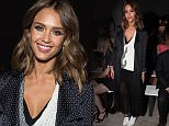 Mandatory Credit: Photo by REX Shutterstock (5074143s)\n Jessica Alba\n Thakoon show, Spring Summer 2016, New York Fashion Week, America - 13 Sep 2015\n \n