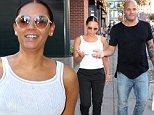 NEW YORK, NY - SEPTEMBER 14:  Singer Mel B and Stephen Belafonte are seen walking in Soho on September 14, 2015 in New York City.  (Photo by Raymond Hall/GC Images)