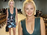 Mandatory Credit: Photo by Matt Baron/REX Shutterstock (5074275ei)\n Malin Akerman\n Diane Von Furstenberg show, Spring Summer 2016, New York Fashion Week, America - 13 Sep 2015\n \n
