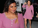 September 14, 2015: Mindy Kaling is seen arriving at the today show this morning in New York City.\nMandatory Credit: Elder Ordonez/INFphoto.com Ref: infusny-160