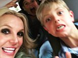 Britney Spears with kids
