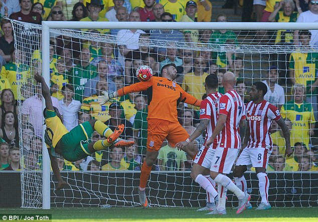 Butland was Man of the Match for Stoke City on Saturday, brilliantly keeping rampant Norwich City at bay