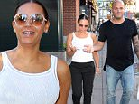 NEW YORK, NY - SEPTEMBER 14:  Singer Mel B and Stephen Belafonte are seen walking in Soho on September 14, 2015 in New York City.  (Photo by Raymond Hall/GC Images)