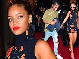 Rihanna and Travis Scott were seen partying together at Up and Down Nightclub on Saturday. Rihanna looked stunning in a slender black dress with orange floral accents. She donned white vintage Sunglasses as she left the club with Travis and her pal Melissa\n\nPictured: Rihanna, Travis Scott\nRef: SPL1124679  130915  \nPicture by: 247PAPS.TV / Splash News\n\nSplash News and Pictures\nLos Angeles: 310-821-2666\nNew York: 212-619-2666\nLondon: 870-934-2666\nphotodesk@splashnews.com\n
