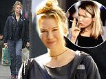 """Picture Shows: Renee Zellweger  September 10th, 2015    * Att Paul Ashton MOL *    American Actress Renee Zellweger looks back to her best as she starts to transform back into Bridget Jones.    Reene had astonished fans with her totally different look at """"ELLE's 21st annual Women In Hollywood"""" Awards at the Four Seasons Hotel in California back in October 2014.   Her face was so unrecognisable some commentators had suggested she had been aided surgically.    These pictures show the pretty actress  back in London to reprise her role in the third instalment of the Bridget Jones films reverting back to her much loved look as the unlucky in love frumpy female protagonist.    A report from the Daily Mail suggests that Renee will attend editorial briefings at ITV's 'Good Morning Britain' as research for her role.    * Att Paul Ashton MOL *    Exclusive  WORLDWIDE RIGHTS  Pictures by : FameFlynet UK © 2015  Tel : +44 (0)20 3551 5049  Email : info@fameflynet.uk.com"""