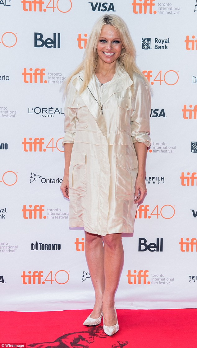 Activist: Anderson wore a white dress with four front pockets to the premiere of her documentary