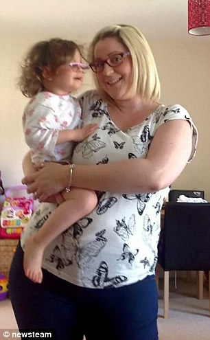 She piled on the pounds following the birth of her daughter Keira
