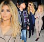 Kylie Jenner and sister, Khloe Kardashian Prove that Blondes have more fun as they joked around during a night out with Rapper Tyga. The sisters walked side by side after dinner at Il Mulino in NYC. Tyga joined them for the evening, but stayed behind.  Pictured: Kylie Jenner, Khloe Kardashian Ref: SPL1125299  130915   Picture by: 247PAPS.TV / Splash News  Splash News and Pictures Los Angeles: 310-821-2666 New York: 212-619-2666 London: 870-934-2666 photodesk@splashnews.com