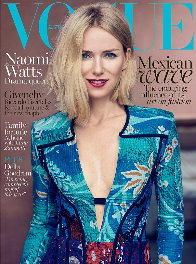 Cover girl: The actress discusses movies and motherhood in the new issue of Vogue Australia