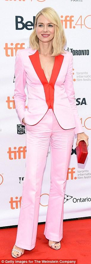 In demand: Watts is currently at Toronto International Film Festival promoting another of her movies, About Ray