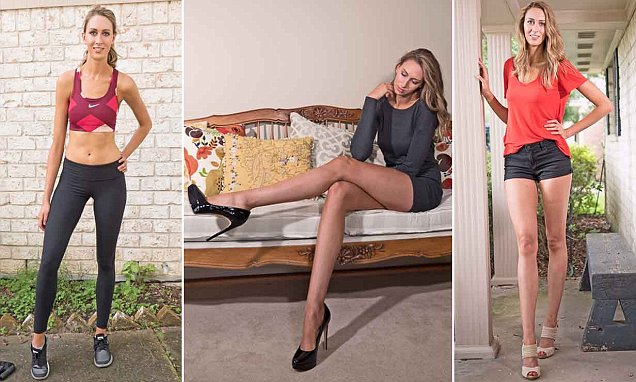 Houston's Lauren Williams has America's longest legs at a staggering 49 INCHES