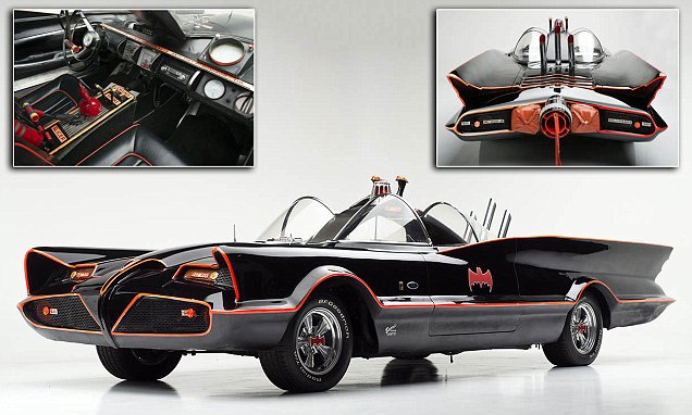 The original Batmobile up for sale and is expected to cost £3m