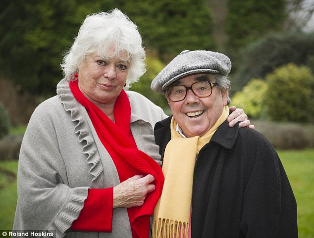 Happy families: Ronnie Corbett is devoted to his wife Anne who he has been married to for the past 47 years
