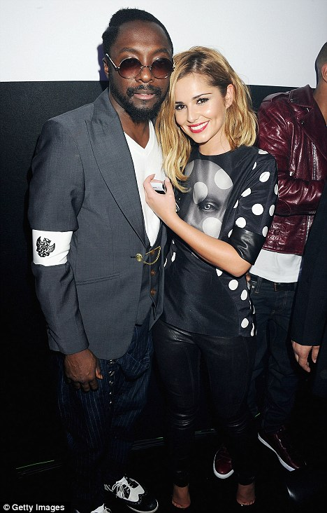 Good friends: Cheryl's new album is believed to have been produced by Black Eyed Peas star will.i.am