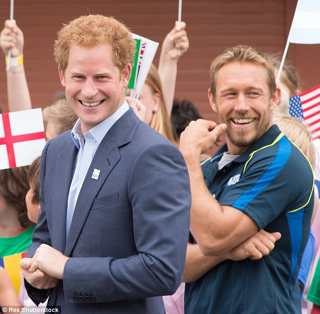 Prince Harry with Jonny Wilkinson at the Rugby World Cup 100 Days to Go Launch in June. The royal will be at the opening ceremony on Friday