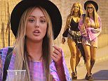 14 September 2015. September 14th, 2015 - Ibiza, SPAIN - Geordie Shores, Charlotte Crosby, Chloe Ferry (black hair), Holly Hagan, Sophie Kasaei and friends head out for the night on the Island of Ibiza Credit: GoffPhotos.com   Ref: KGC-149/029424 **UK Sales Only**