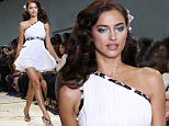 NEW YORK, NY - SEPTEMBER 13:  Irina Shayk walks the runway during Diane Von Furstenberg as a part of Spring 2016 New York Fashion Week at Spring Studios on September 13, 2015 in New York City.  (Photo by Antonio de Moraes Barros Filho/FilmMagic)