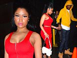EXCLUSIVE: Nicki Minaj and Meek Mill were spotted leaving 40/40 Club in NYC after watching the Floyd Mayweather fight. Nicki stunned in a red Alexander Wang Dress as she left the club. Meek proved to be a true gentleman opening the door for his lady, and helping her across a puddle.\n\nPictured: Nicki Minaj, Meek Mill\nRef: SPL1124677  130915   EXCLUSIVE\nPicture by: 247PAPS.TV / Splash News\n\nSplash News and Pictures\nLos Angeles: 310-821-2666\nNew York: 212-619-2666\nLondon: 870-934-2666\nphotodesk@splashnews.com\n