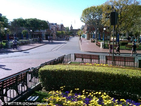 The park had been set to open at 8am but no one was allowed in or out of the attraction after security officers spotted the scroll during a routine pre-opening walk through