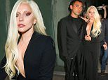 Lady Gaga arrives at Brandon Maxwell debut Collection presentation at MR CHOW in New York City\n\nPictured: Lady Gaga\nRef: SPL1126258  140915  \nPicture by: Felipe Ramales / Splash News\n\nSplash News and Pictures\nLos Angeles: 310-821-2666\nNew York: 212-619-2666\nLondon: 870-934-2666\nphotodesk@splashnews.com\n