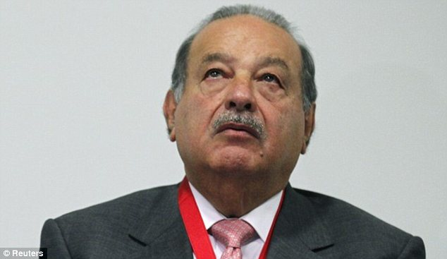 It ain't easy having green: Mexican telecomm magnate Carlos Slim is the planet's richest man, raking in $68.5billion, according to Bloomberg's brand-new daily list of the world's wealthiest
