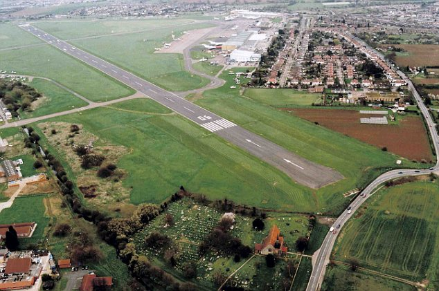 Simple: Southend Airport before the revamp. Managers hope to see two million holidaymakers a year pass through its gates