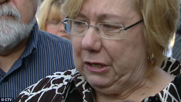 Disappointment: Family of Mitchell expressed disappointment after the verdict today while his grandmother Pam Wilson earlier said they 'don't want to be a lynch squad' but hope the alleged attacker is helped for a better life