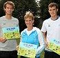 Family matters: Judy Murray with her sons, Andy (left) and Jamie