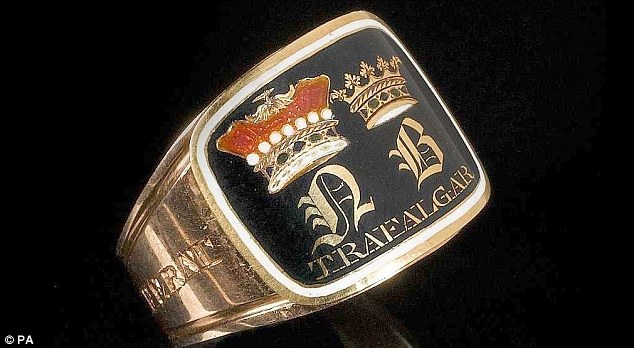 A rare mourning ring worth £25,000 with the initials N and B engraved on it, which belonged to Lord Nelson, was stolen by thieves in broad daylight