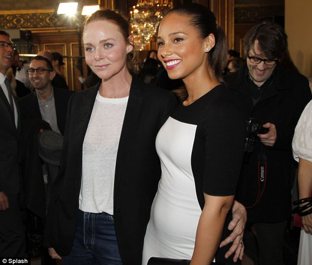 Congratulations!: Alicia caught up with Stella backstage after the show had wrapped