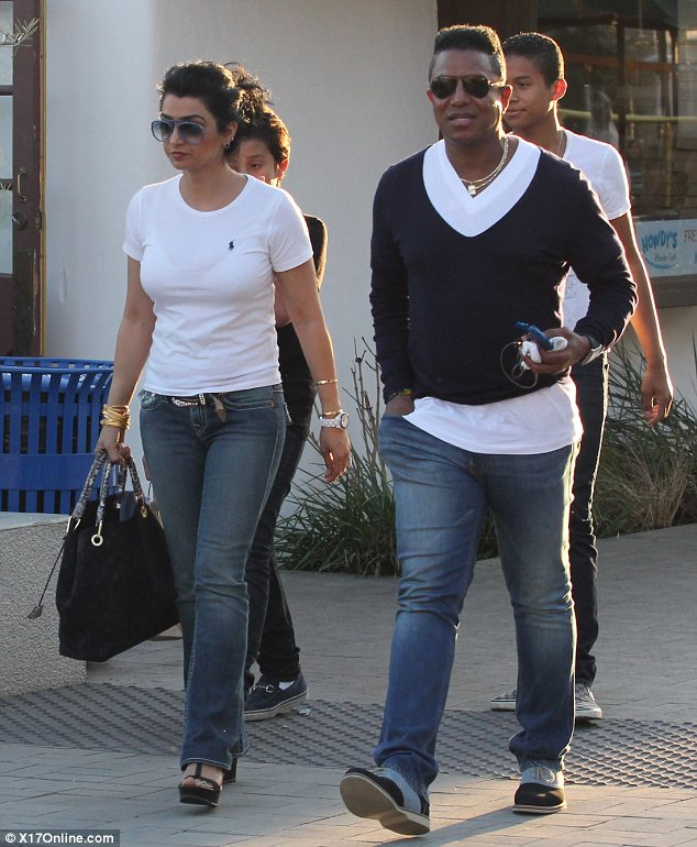 Brave face: Jermaine Jackson was spotted for the first time since rumours emerged that he had an affair with the late Whitney Houston