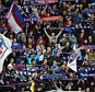 Great support: Rangers fans in full voice against Hearts