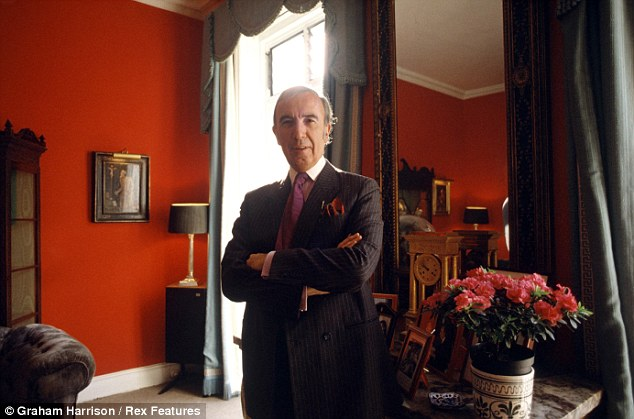 Decadent: Lord St John at his home in London during the 1980s