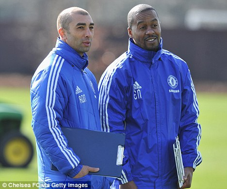 In charge: Di Matteo has survived AVB's ill-fated regime at Chelsea