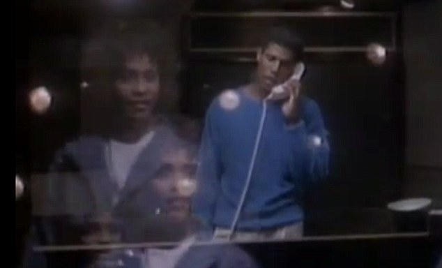 Lookalike: Whitney even hired a Jermaine lookalike for the video for her 1985 single Saving All My Love For You