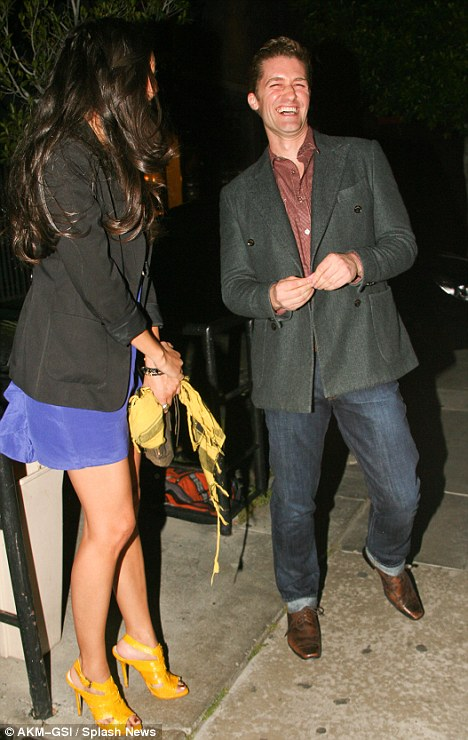 She's clearly clever enough to make you laugh! Matthew bursts into giggles as they leave the restaurant