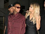 September 13, 2015: Kylie Jenner and Tyga hold hands as they head to a fashion event on Wall Street during Mercedes-Benz Fashion Week in New York City. Mandatory Credit: T.Jackson/INFphoto.com Ref: infusny-284