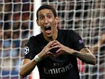 Paris St Germain's Angel Di Maria (R) celebrates after scoring against Malmo during his Champions League Group A stage match at the Parc des Princes stadium in Paris, France, September 15, 2015.  REUTERS/Jacky Naegelen