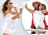 CANNES, FRANCE - SEPTEMBER 03:  Nicole Scherzinger showed up with an unexpected plus one to close out the summer season in the South of France. Nicole marked the launch of new Captain Morgan White Rum with the Captain himself, delivering mojitos to bewildered paparazzi and posing with fans for selfies on September 3, 2015 in Cannes, France.  (Photo by Stuart C. Wilson/Getty Images for Captain Morgan)