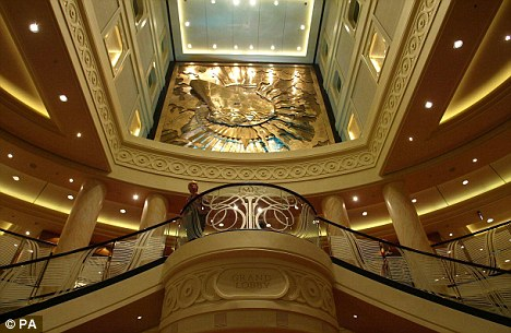 """The Grand Lobby.  Operator Cunard Line said the score was """"an uncharacteristically low score"""""""