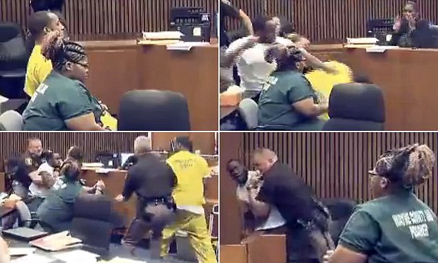 Father attacks his 3-year-old daughter Jamila Smith's murderer in Detroit court