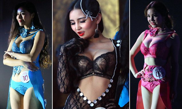 Chinese breast pageant sees women compete for best cleavage