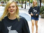 ***MANDATORY BYLINE TO READ INFPhoto.com ONLY***\nElle Fanning in a sweatshirt with a 'White Cat' gets coffee and a snack in Los Angeles, CA.\n\nPictured: Elle Fanning\nRef: SPL1127325  150915  \nPicture by: Lek/INFphoto.com\n\n