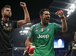 Football - Manchester City v Juventus - UEFA Champions League Group Stage - Group D - Etihad Stadium, Manchester, England - 15/9/15  Juventus' Gianluigi Buffon celebrates at the end of the match  Reuters / Phil Noble  Livepic  EDITORIAL USE ONLY.