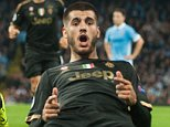 Sept 15th 2015 - Manchester, UK - MAN CITY V JUVENTUS - Juventus Morata  goal 1-2 PIcture by Ian Hodgson/Daily Mail