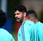COBHAM, ENGLAND - SEPTEMBER 15: Chelsea's Diego Costa warms up during a Chelsea Training Session ahead of their Champions League fixture against Maccabi Tel Aviv on September 15, 2015 in Cobham, England. (Photo by Charlie Crowhurst/Getty Images)