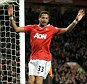 Rare: Bebe celebrates scoring during last season's Carling Cup fourth round match against Wolves