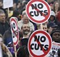 Not happy: Demonstrators attend a rally in Hyde Park, during a protest  organised by the TUC against the coalition government's austerity measures