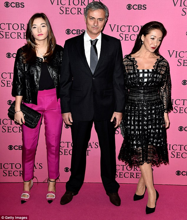 Daddy's girl: Mathilde with her parents at last December's Victoria's Secret fashion show in London