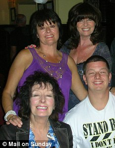 Actress Vicki Michelle with sister June, left mum Joan and nephew David, front